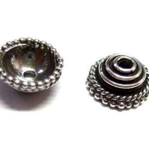 Bali Beads Silber Perlkappe 8 mm 14346