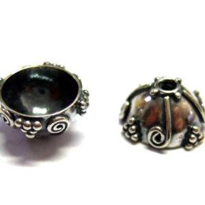 1 Bali Beads Silber Perlkappe 9,5 mm 14339