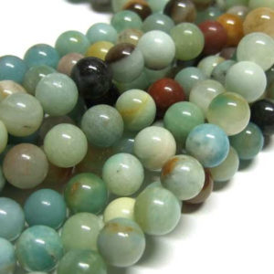 Amazonit Perlen Strang 6 mm