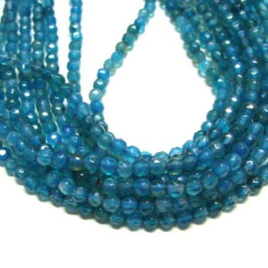 facettierter Achat Perlen blau gef. Strang Kugeln 4 mm