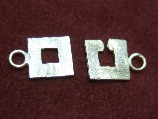 quadratischer Ketten Verschluss 925 Silber