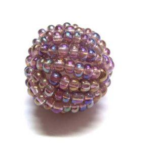 Perle mit Rocailles flieder 15 mm 15762