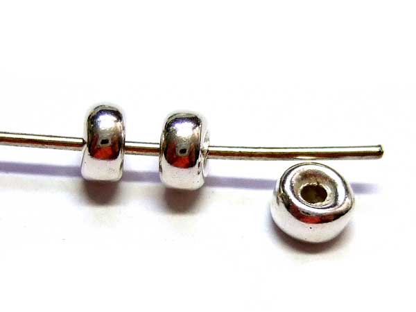 Silberperlen Spacer 15764 Schmuckkomponente