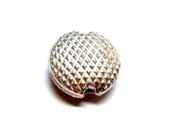 Silberperle Scheibe gemustert 15766