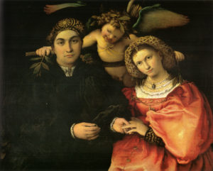 Porträt des Messer Marsilio und seiner Frau (Lorenzo Lotto)