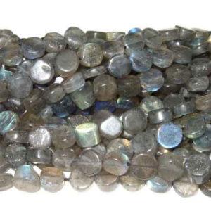 Labradorit Perlen Strang Coins