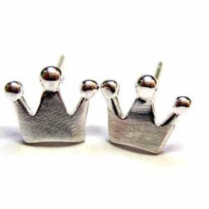 Ohrstecker Krone aus Sterlingsilber