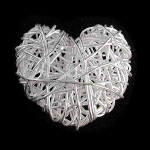 Silberperle Herz aus Draht 925-Sterlingsilber 26 *24
