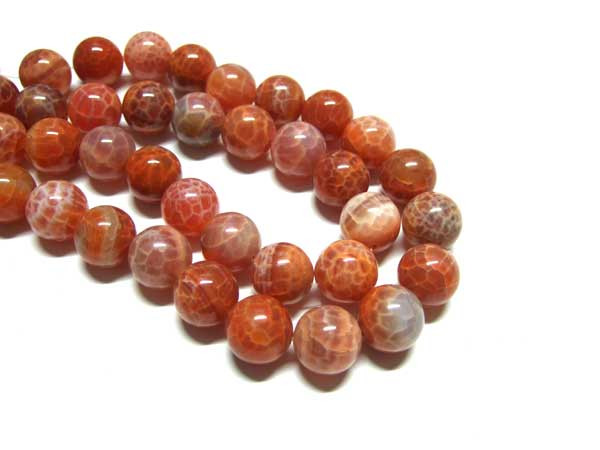 Feuerachat Perlen Strang 16 mm