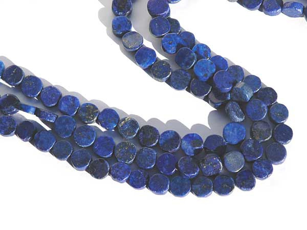 Lapis Lazuli Perlen Strang Coins