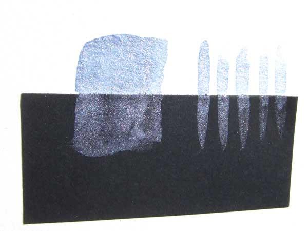 Aquamarinblau handgemachte Aquarellfarbe