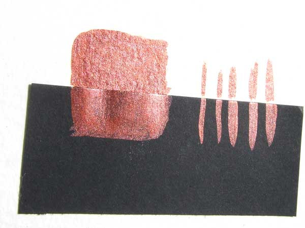 Kupferrot handgemachte Aquarellfarbe