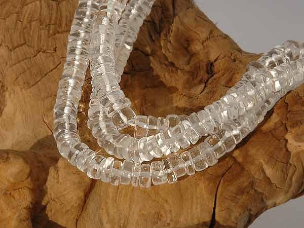 Bergkristall Perlen Rondelle