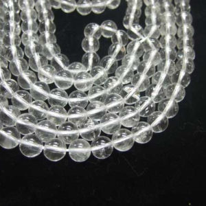 Bergkristall Perlen Strang Kugeln 6 mm