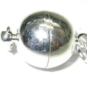 Schmuck Magnetverschluss Kugel 10 mm silber
