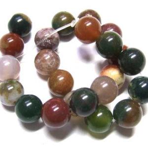kurzer Strang indischer Achat Perlen 8 mm