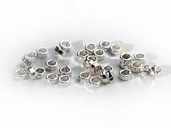 Quetschperlen aus 925 Silber zur Schmuckfertigung