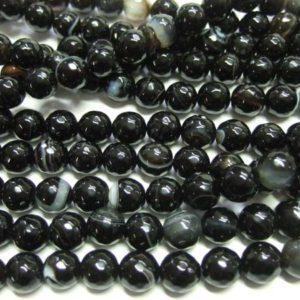 Madagaskar Achat Perlen Strang Kugeln 10 mm facettiert