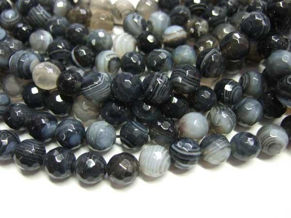 Madagaskar Achat Perlen Strang Kugeln 8 mm