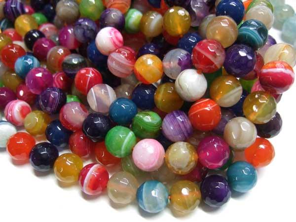 Achat Perlen bunt