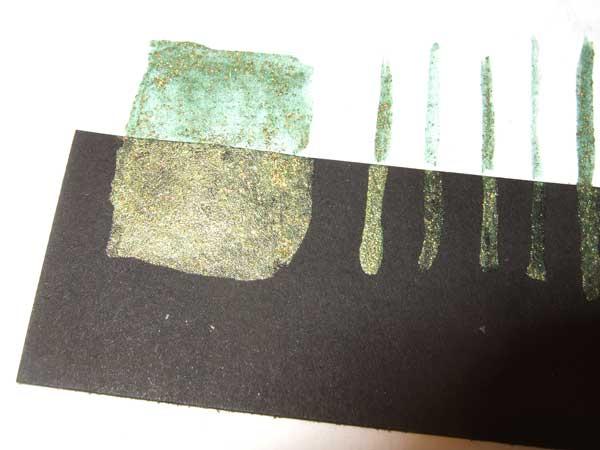 Schimmer Aquarellfarbe holo-krokodilgrün