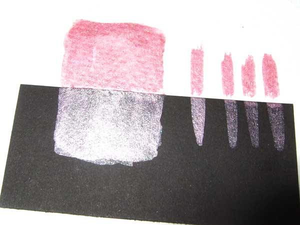 handgemachte Aquarellfarbe silberrosa 15558