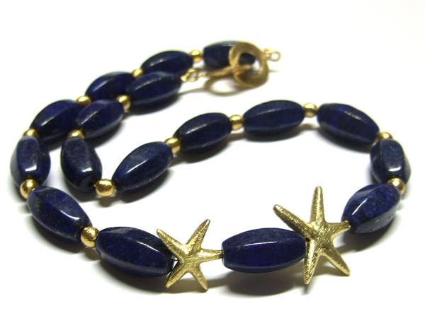 Lapis Lazuli Perlen und Schmuckzwischenteile aus Silber