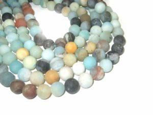 Amazonit Perlen mattiert