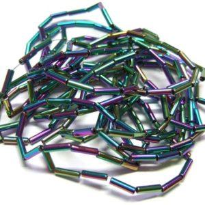 Hämatit Perlen Strang 15734 Stäbe Regenbogenfarben