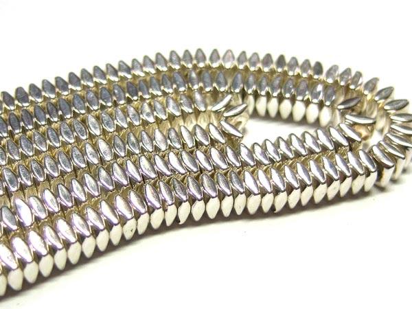 Hämatit Perlen Strang 15738