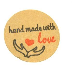 Aufkleber handmade with love