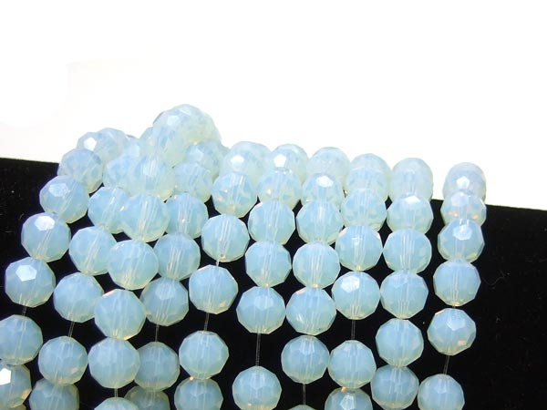 Opalglas Perlen Irrlicht facettierte runde Perlen 8 mm