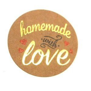 Aufkleber homemade with love ca. 500 Stk
