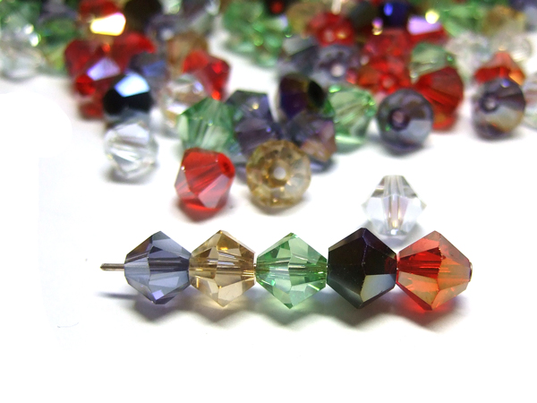 Kristallschliffperlen 8 mm Farbmix AB 10 Stk