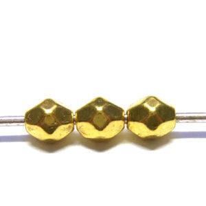 goldfarbene kleine Metallperlen 50 Stk 15788