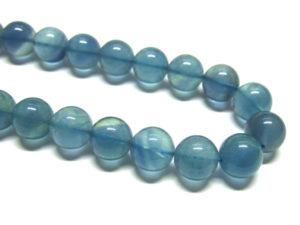 blauer Fluorit Perlen Strang Kugeln 12 mm