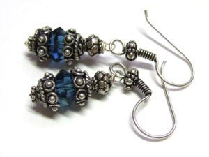 Ohrringe mit Kristallschliffperle