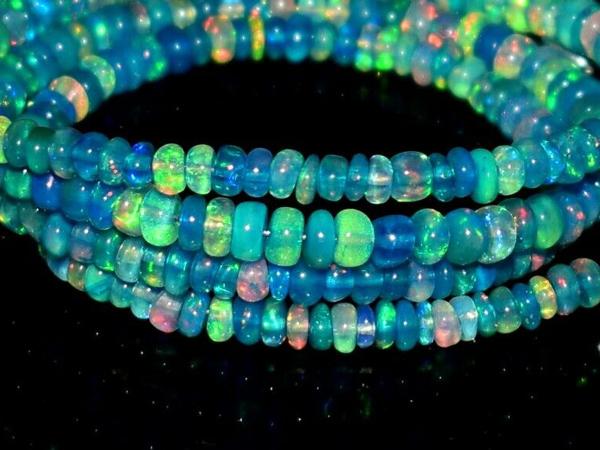 Welo Opal Perlen Strang 15820