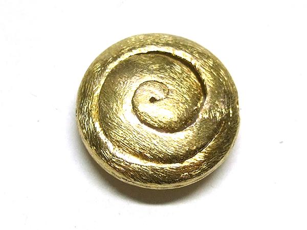 vergoldete Silberperle Scheibe mit Spirale 15 mm 15830