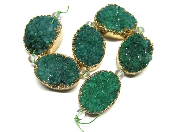 grüne Drusenperle 15838