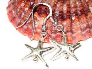Seestern Ohrringe aus 925er Silberperlen