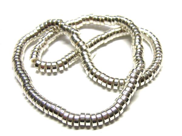 Hämatit Perlen Strang Rondelle 15846