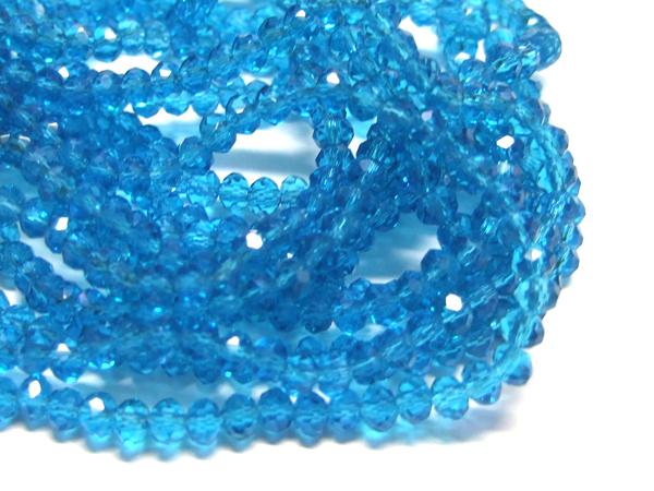 Glasperlen Glasrondelle facettiert capri 4 mm 15858