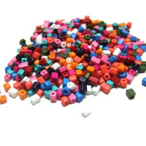 kleine Glaswürfel Perlen kunterbunt 15910